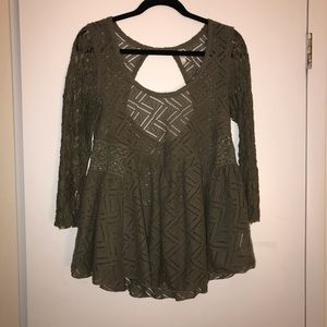 Free People Lace and Soft Tunic